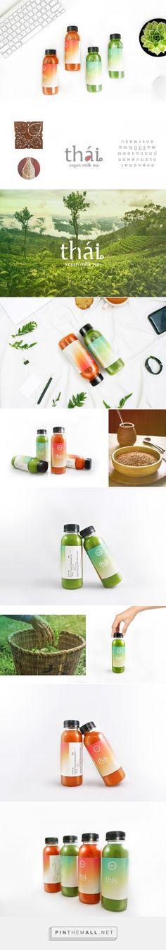 Thai - Vegan Milk Tea - Packaging of the World - Creative Package Design Gallery - http://www.packagingoftheworld.com/2017/06/thai-vegan-milk-tea.html
