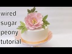 Sugar Peony and Leaves: How to make a wired open sugar peony tutorial by Busi Christian-Iwuagwu - YouTube
