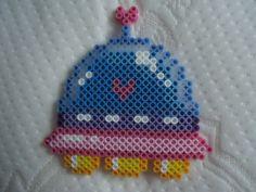 Kawaii perler bead UFO by *PerlerHime on deviantART