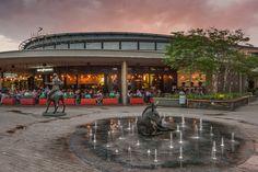 Lynnwood bridge development #drla #zerlevelwaterfeature #angustailor #landarch #atterburyproperties Shopping Center, Shopping Mall, Woolworths Food, Graffiti Books, Mix Use Building, Mixed Use Development, Pretoria, Bridge, Street View