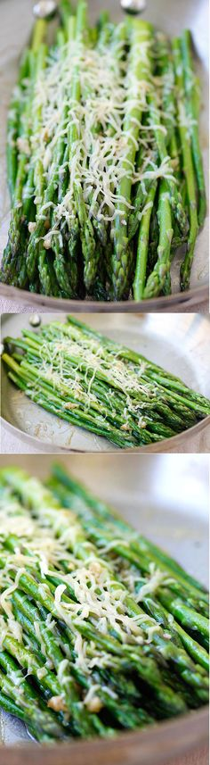 Skillet Parmesan Asparagus – the easiest asparagus recipe ever! 10 mins on skillet then topped with Parmesan cheese, healthy and tasty! | rasamalaysia.com