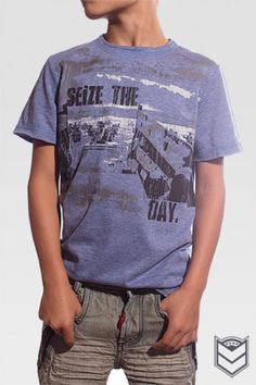 Seize The Day - Unfortunately, there are days where it feels like the whole world is being thrown against you. The Warrior Poet presses onward towards the goal, storming the beachhead of life. This shirt reminds your Warrior Poet to be strong, courageous and to focus on the goal! Carpe Diem!
