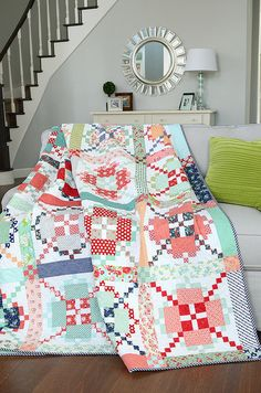 The greatness of Camille once again. APQ Quilt Along by croskelley, via Flickr