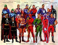 Gallery 2 of the Public Domain Characters of Project Superpowers