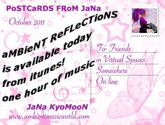 aMBieNT ReFLeCTioNS oF JaNa KYoMooN available from iTuNes