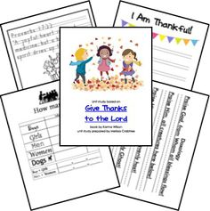 FREE Give Thanks to the Lord Unit Study!