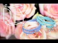 Vídeo - como fazer pulseira entrançada (3 fios ou 4 fios) c/ pendentes - DIY Braided Charm Bracelets