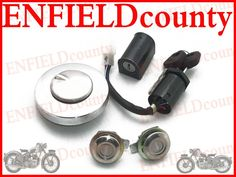 NEW ROYAL ENFIELD ELECTRA COMMON KEY LOCKING SET WITH 2 SPARE KEYS