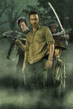 The Walking Dead by Paul Shipper, via Behance love the art work! All my favorite characters.