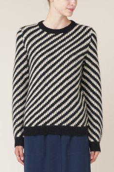 A.P.C. Striped Jenny Pullover (Black)