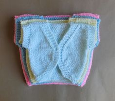 Boleros Hope you enjoy my latest design - a simple but sweet sleeveless baby bolero jacket. Four sizes at present ~ Newborn, la. Easy Baby Knitting Patterns, Baby Cardigan Knitting Pattern Free, Bolero Pattern, Crochet Baby Jacket, Baby Girl Crochet, Jacket Pattern, Crochet For Kids, Baby Patterns, Free Knitting