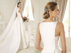 Elegant and classic wedding dress! Perfection!   Manuel Mota Bridal 2013