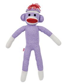 Take a look at this Purple Sock Monkey Plush Toy by Sock Monkey Collection on #zulily today!
