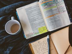 I could sit and study my Bible all day. New Testament Books, Old And New Testament, Bible Photos, Bible Study Tips, Hillsong United, Strong Faith, Words Of Comfort, Coffee And Books, Quotes About God