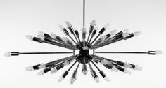 Sputnik Atomic Lamp Light Chandelier Chrome Starburst Mid Century Modern Eames
