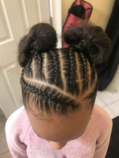 Little Girls Natural Hairstyles, Cute Toddler Hairstyles, Black Girl Braided Hairstyles, Natural Hairstyles For Kids, Baby Girl Hairstyles, Sporty Hairstyles, Little Girl Braids, Braids For Kids, Gymnastics Hairstyles