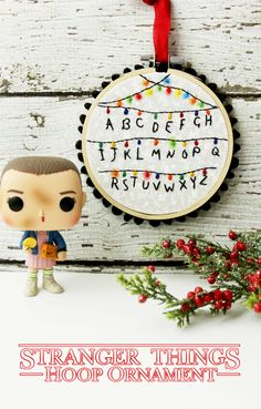 Stranger Things Hoop Ornament -