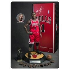 NBA Derrick Rose Bulls Real Masterpiece Action Figure - Enterbay - Sports: Basketball - Action Figures at Entertainment Earth