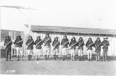 Apache Scouts at Ft. Wingate, New Mexico Territory