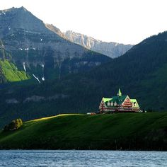 Waterton National Park, prince of whales hotel. Beautiful, my only canadian exposure but I'm sold, would love to go back and stay right there
