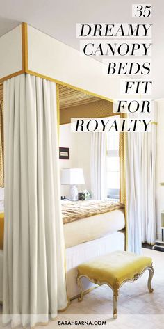 35 dreamy canopy beds fit for royalty - Orange Canopy Interior