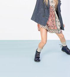 Image 1 of Scarf print dress from Zara
