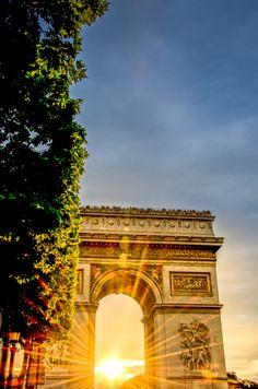 Paris - Sunset at Arc de Triomphe