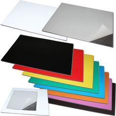 Magnetfolie Magnetband Zuschnitt Selbstklebend 3M oder farblich PVC-beschichtet in Büro & Schreibwaren, Präsentationsbedarf, Präsentations-Zubehör | eBay