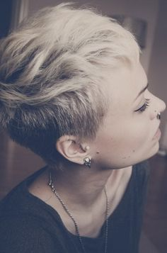 Short shaved hairstyles for women                                                                                                                                                     More