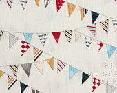 Half Yard Reunion Baby's Bunting in Vanilla, Sweetwater for Moda Fabrics, 100% Cotton Fabric - Fresh Modern Fabric