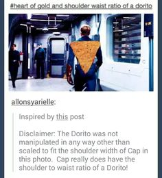 shoulder and waist ratio of a dorito // I'm laughing and I don't know why Marvel Heroes, Marvel Avengers, Spiderman, Batman, My Tumblr, Chris Evans, Bucky, Marvel Movies, Fangirl