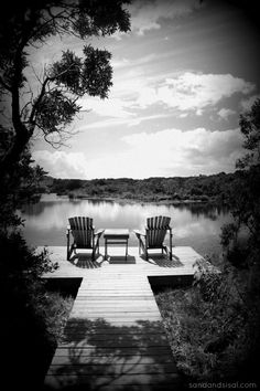 End of the Dock- Gorgeous Black & white photography.