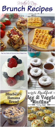Brunch Recipes Mother& Day Brunch Recipes collected by The NY Melrose Family Mothers Day Breakfast, Mothers Day Brunch, Easy Brunch Recipes, Breakfast Recipes, Breakfast Ideas, Brunch Ideas, Banana And Egg, Love Food, The Best