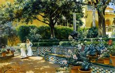 Gardens of the Alcazar Seville  Manuel Garcia y Rodriguez