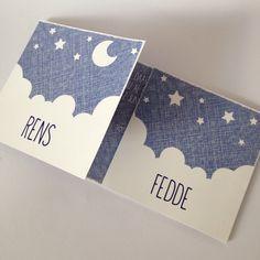 #tweeling #geboortekaartje voor Fedde en Rens van Typschmies.nl