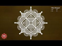 Rangoli Designs Latest, Rangoli Designs Flower, Rangoli Border Designs, Rangoli Designs Images, Rangoli Ideas, Rangoli Designs With Dots, Rangoli Designs Diwali, Flower Rangoli, Rangoli With Dots