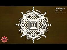 Rangoli Designs Latest, Rangoli Designs Flower, Rangoli Border Designs, Rangoli Ideas, Rangoli Designs With Dots, Rangoli Designs Images, Rangoli Designs Diwali, Flower Rangoli, Rangoli With Dots