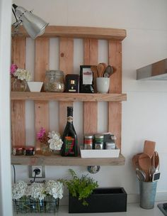 Home Ideas , Top 10 Wood Pallet Projects for your House : Wood Pallet Projects Kitchen Sheves
