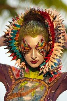 Artistic and colorful fantasy make-up look accented with crystals and red bejewe… – Hobbies paining body for kids and adult Boho Gypsy, Make Up Art, How To Make, Fantasy Make Up, Foto Fashion, Too Faced, Maquillage Halloween, Creative Makeup, Face Art