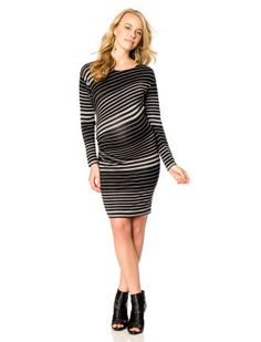 84e005c380129 Jessica Simpson Long Sleeve Side Ruched Maternity Dress Jessica Simpson  Maternity, Maternity Dresses, Bodycon