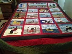 Applique Quilt showing Newfoundland way of life. Each block predicts something about the province of Newfoundland, Canada. Newfoundland Canada, Quilt Patterns, Quilting Ideas, Quilt Making, Quilt Blocks, Quilt Pictures, Applique, Projects To Try, Quilts