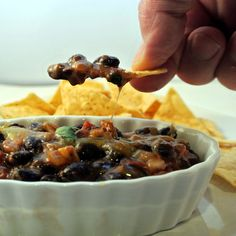 Black Bean Dip Recipe - minus the cream Appetizer Dips, Appetizer Recipes, Delicious Appetizers, Dip Recipes, Cooking Recipes, Recipies, Free Recipes, Black Bean Dip, Black Beans