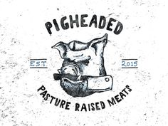 Pigheaded Butcher Logo Option 1