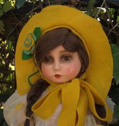 Very rare all original antique italian  BURGARELLA doll , high 20 inches (51 cm)