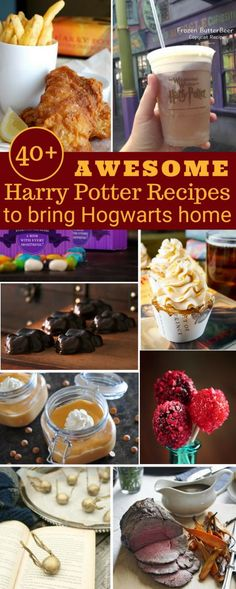 40+ Awesome Harry Potter Recipes That'll Bring Hogwarts to Your Home | Harry Potter was the book of my childhood as it is for a lot of people. So of course, I was naturally stoked to find out they were building The Wizarding World of Harry Potter at Universal Studios. Besides the great attractions, I'm in love with their food. The weird and totally bizarre treats are not only reminiscent of the books, but they also taste pretty good. | Harry Potter | Recipes | Universal Studios