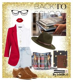"""Scholar Hottie #BackToSchool"" by doniblu on Polyvore featuring Canterbury, Marissa Webb, Topshop, River Island, Nine West, Battington, Chico's, Christys', Tiffany & Co. and Lime Crime"