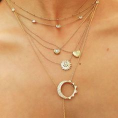 #Layering #inspo: Sort of #obsessed with these #amazeballs #layers! / Keep your #layerednecklaces #tanglefree with the #Strandalign!  #regram #GETYOURSTRANDALIGNON #staytanglefreewithstrandalign