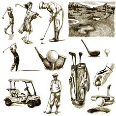 How To Improve Your Game In Golf. Do you need to learn more about the game of golf? If you do not know how to play golf, you are not the only one! Golf Quilt, Golf Drawing, Golf Tattoo, Golf Painting, Golf Images, Golf Cards, Classic Golf, Vintage Golf, Miniature Golf