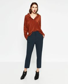Image 1 of MASCULINE CARROT TROUSERS from Zara