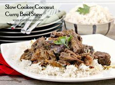 A hearty stew with melt-in-your- mouth tender beef chunks in creamy coconut sauce flavored with curry powder and other spices. Now that is delicious!